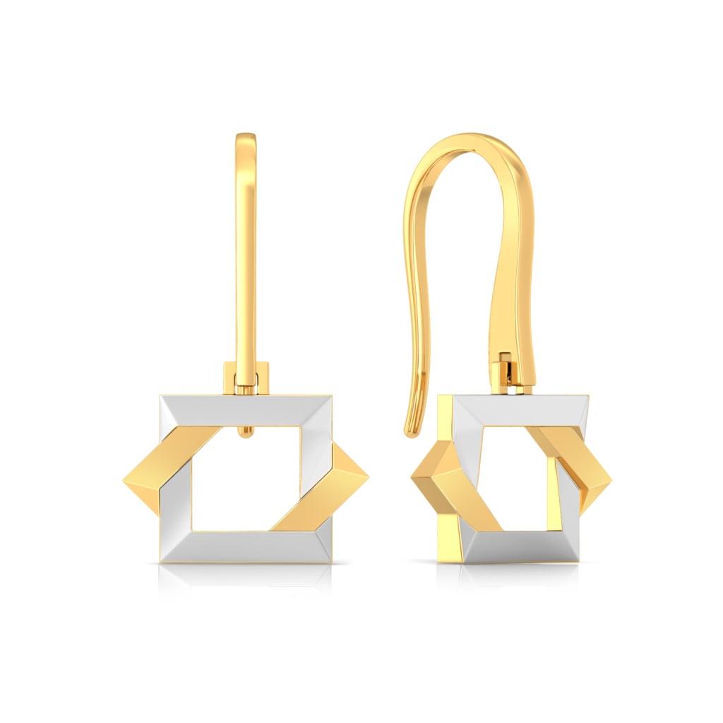 Dual Drama Gold Earrings