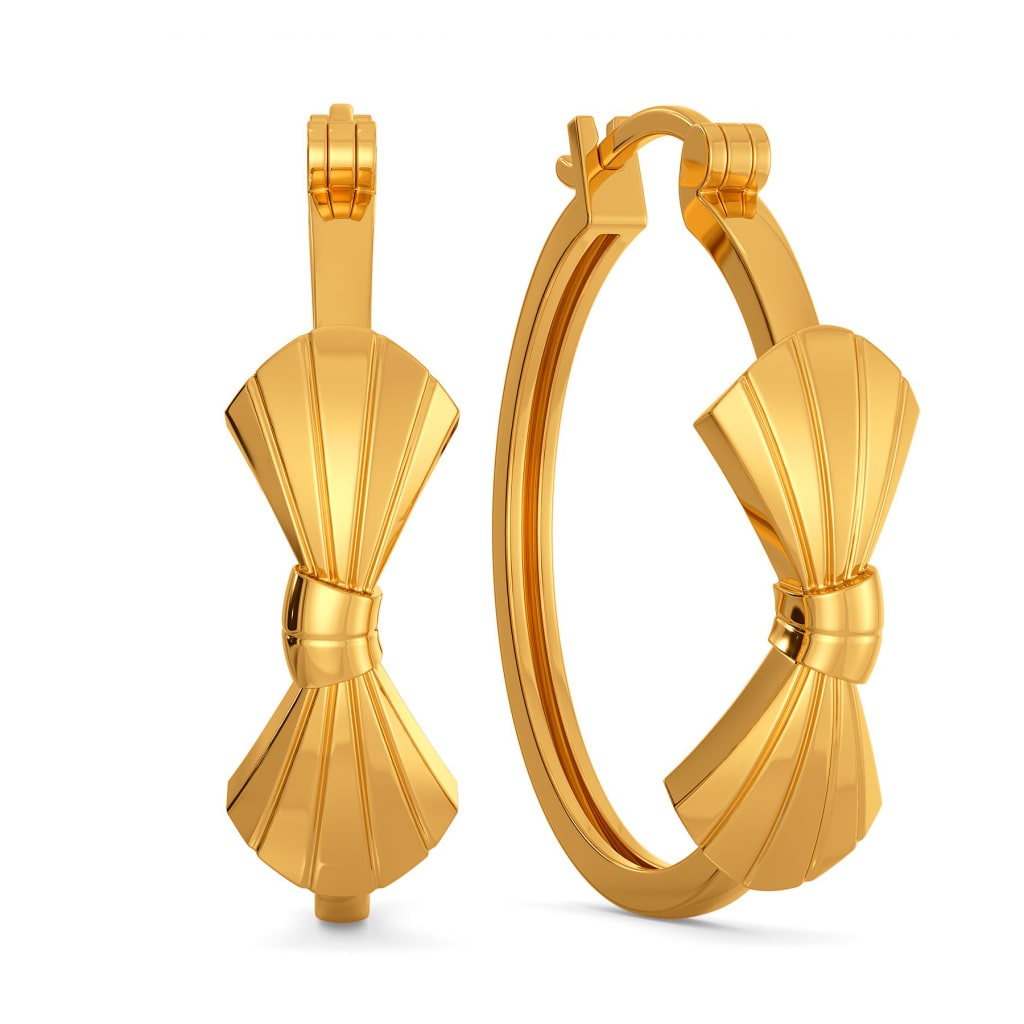 Bow Boggled Gold Earrings