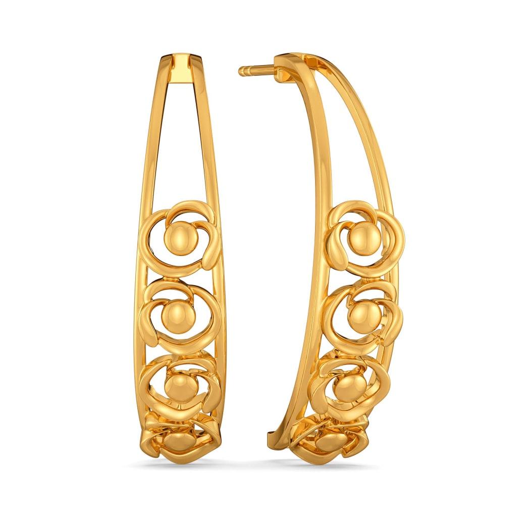 Winter Wilts Gold Earrings