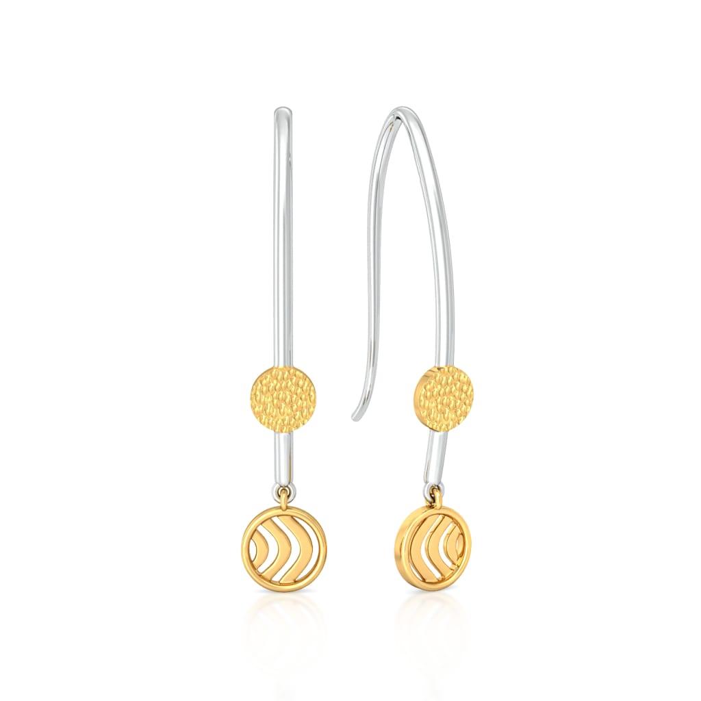 Hippie Turn Gold Earrings