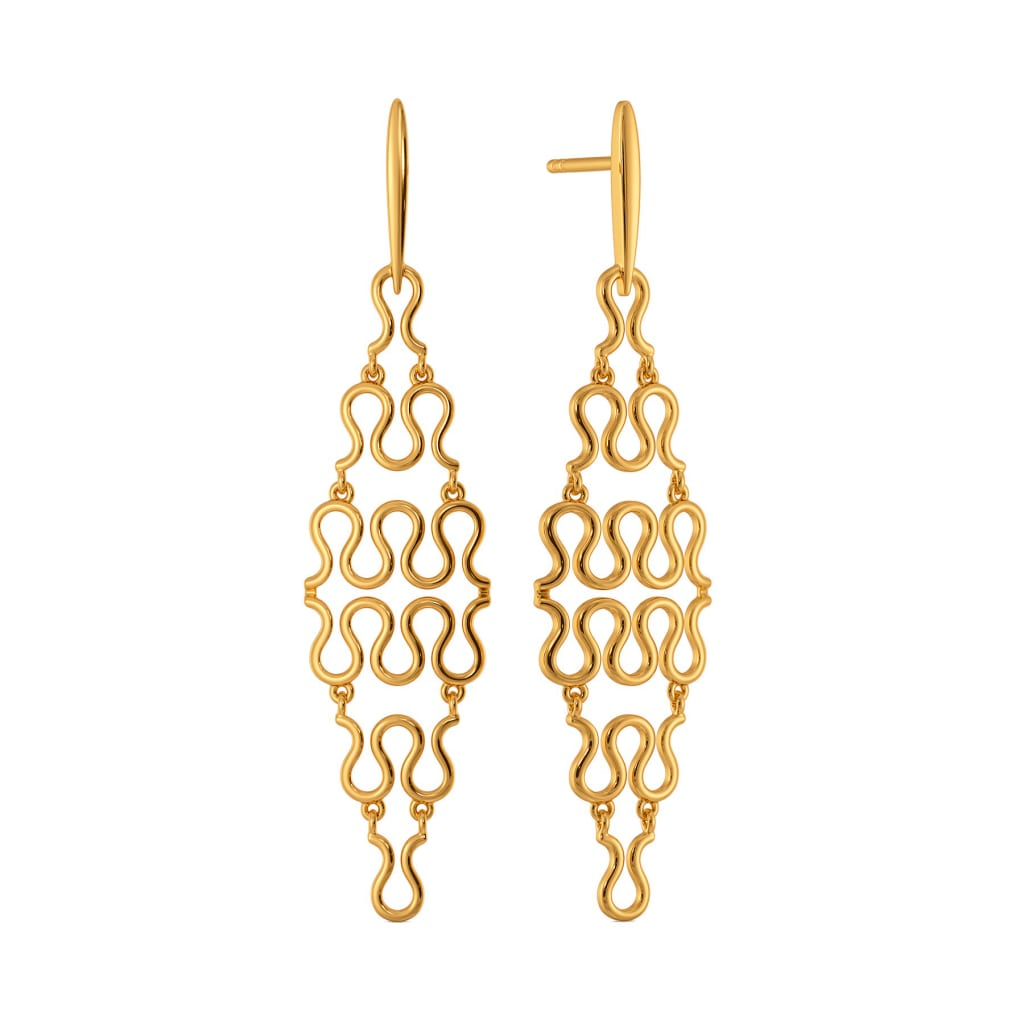 Knot On Gold Earrings