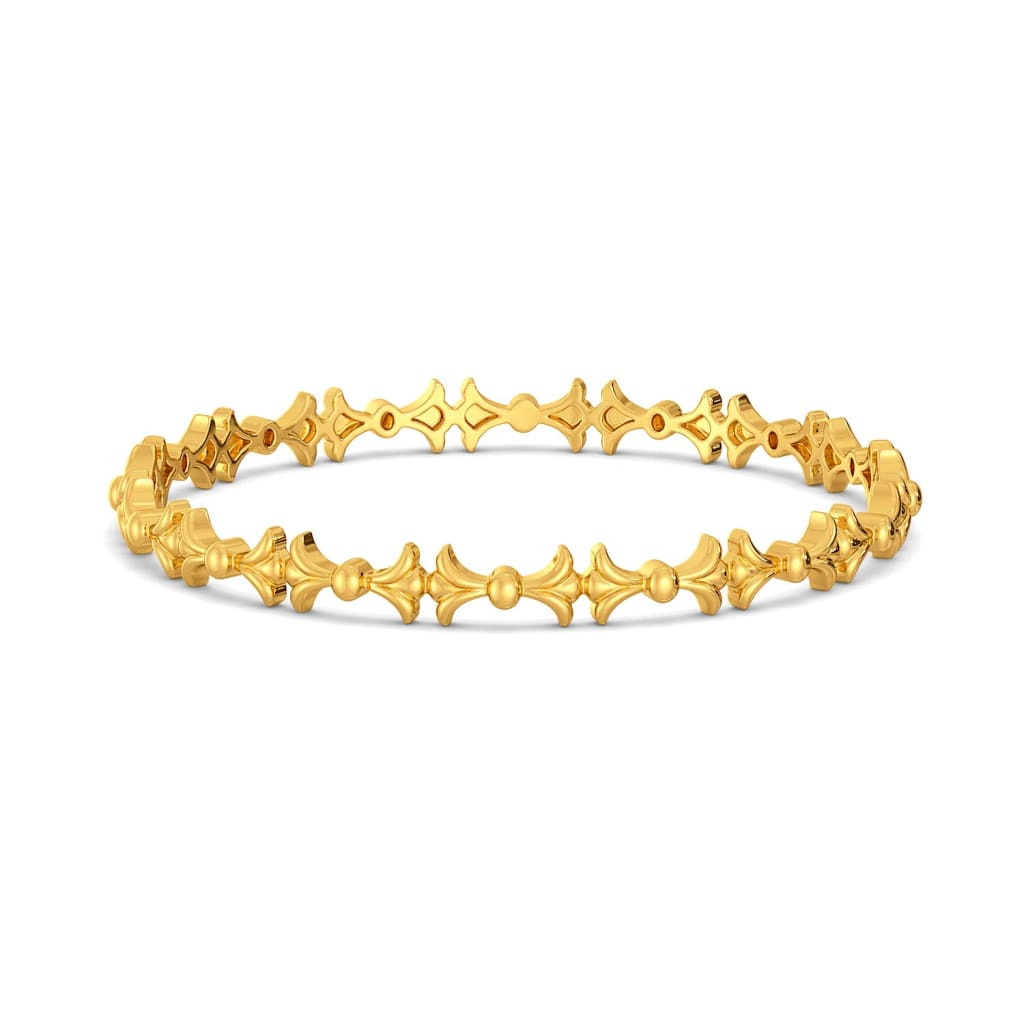 The Calm Palm Gold Bangles