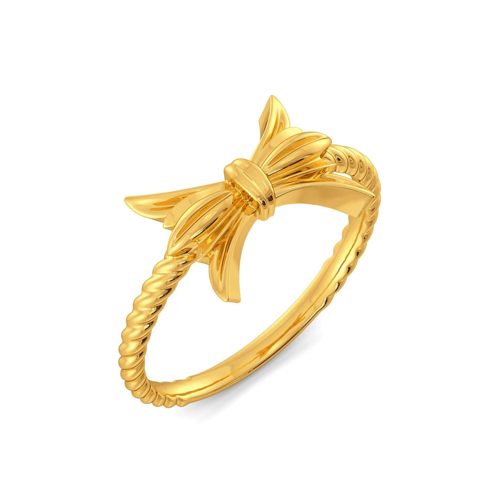 Bow Baroque Gold Rings