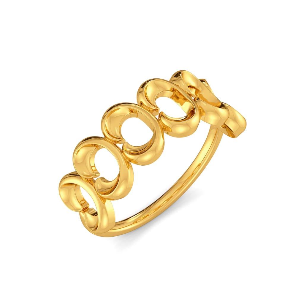 Rosette Fields Gold Rings