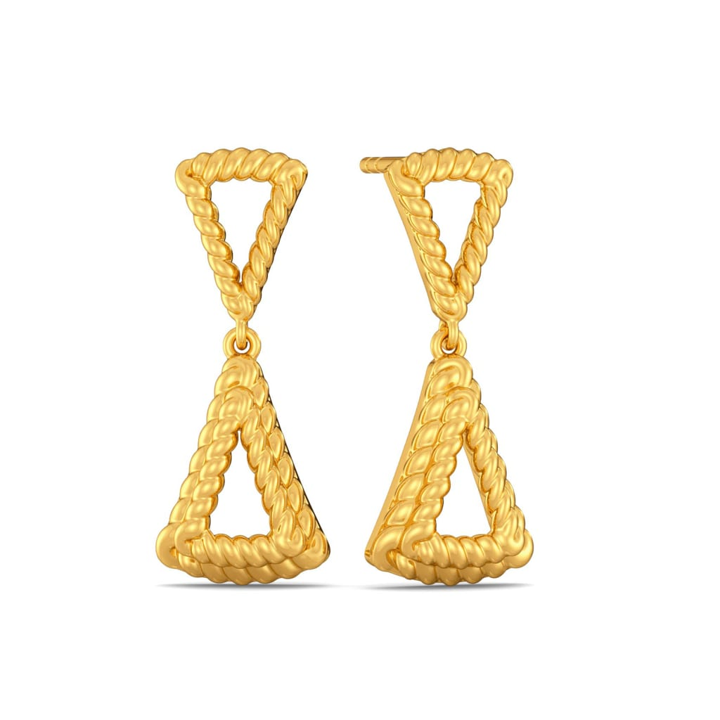 Two Tiered Gold Earrings