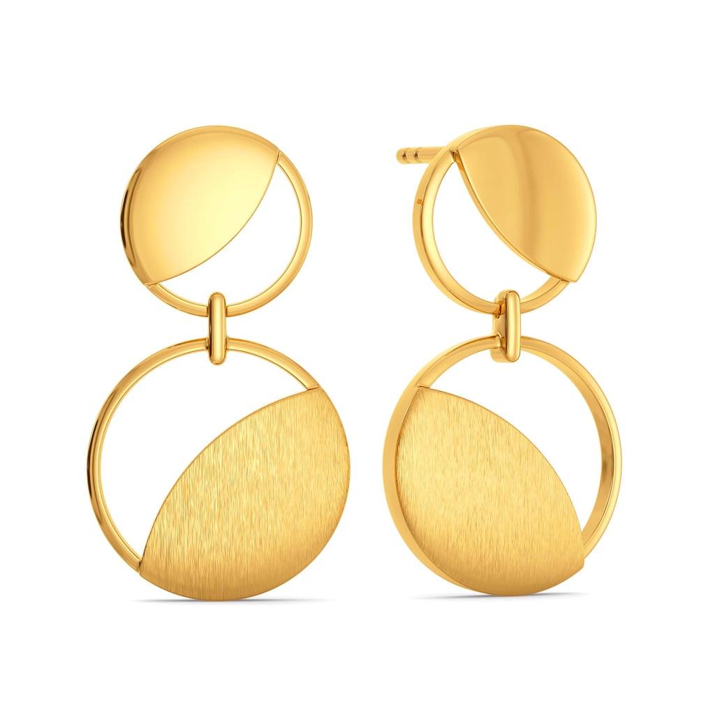 Sequin Workload Gold Earrings