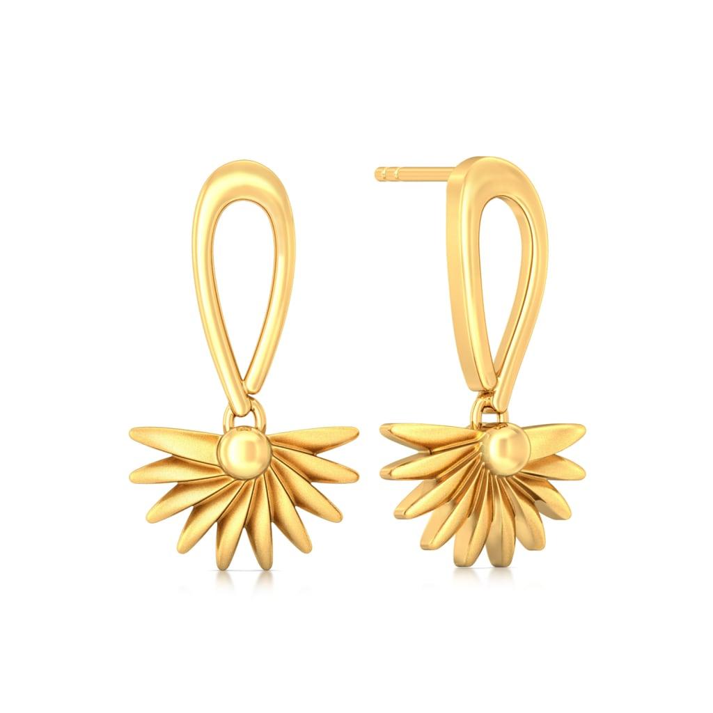 Yellow Tangelo Gold Earrings