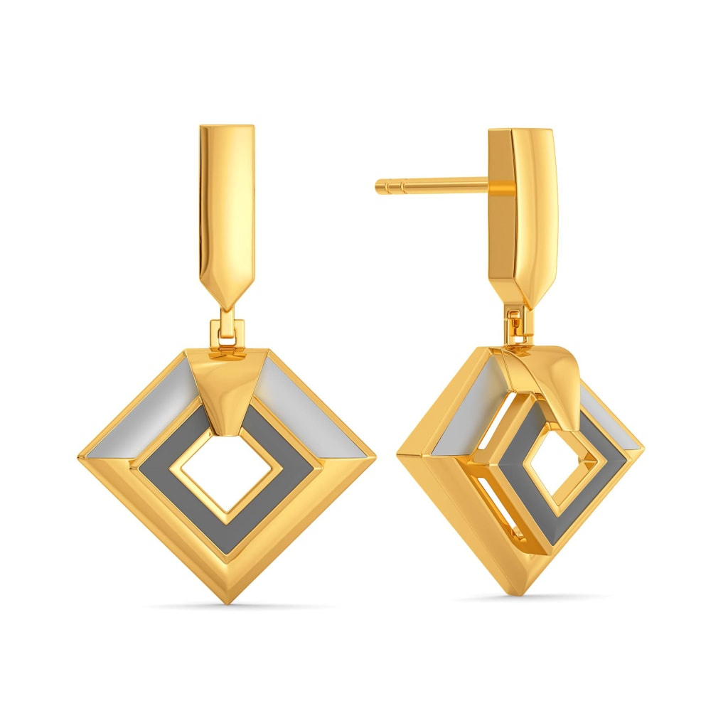 Workday Greys Gold Earrings