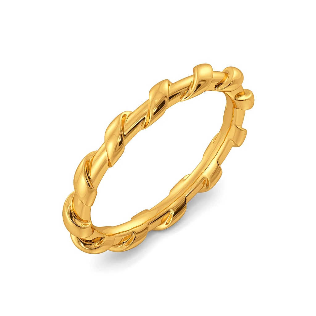 The Leno Weave Gold Rings