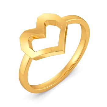 Hearty Hit Gold Rings