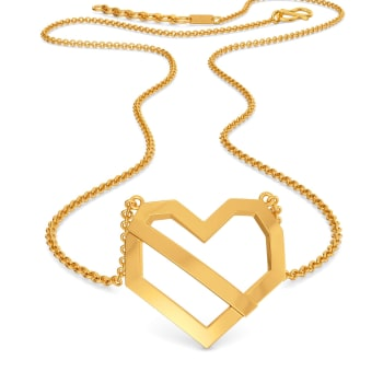 Hearty Hit Gold Necklaces