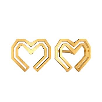 Puff Love Gold Earrings