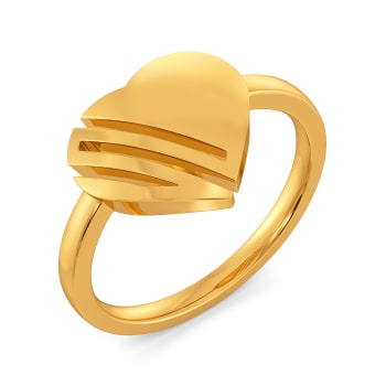 Caring Curls Gold Rings