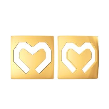 Flaunt Fondly Gold Earrings