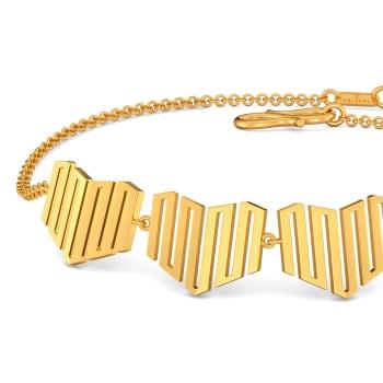 Dramatic Hearts Gold Bracelets