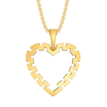 Amour Amply Gold Pendants
