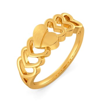 Parisian Hearts Gold Rings