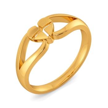 L 'amour en vogue Gold Rings