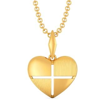 L 'amour en vogue Gold Pendants