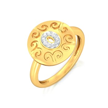 Golden Eye Diamond Rings