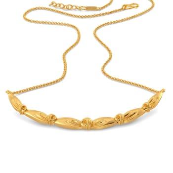Knot Plot Gold Necklaces