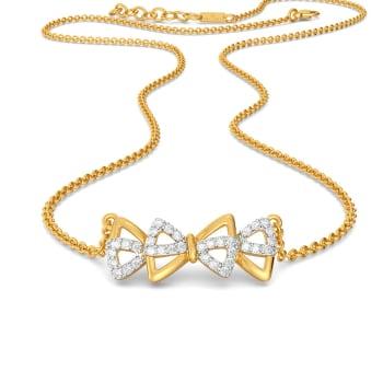 Bow Wrap Diamond Necklaces