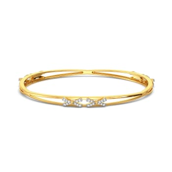 Bow Wrap Diamond Bangles