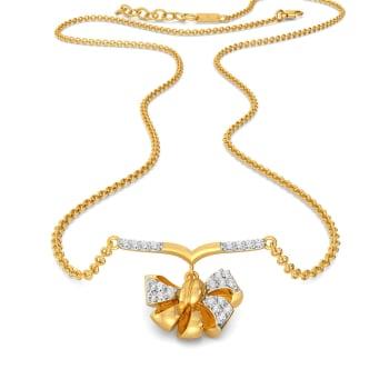 Bow Bouquet Diamond Necklaces