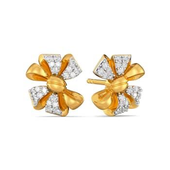 Bow Bouquet Diamond Earrings