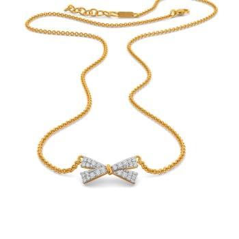 Lustrous Loops Diamond Necklaces