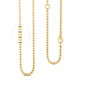 18kt Yellow Gold Box Chain Gold Chains
