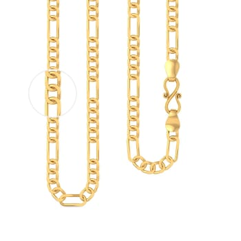 22kt Figaro chain Gold Chains