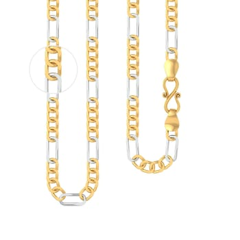 22kt two tone Figaro chain Gold Chains