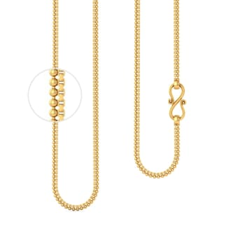 22kt Ball and Box Gold Chain Gold Chains