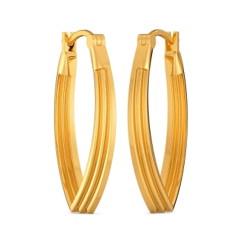 Hip Suiting Gold Earrings
