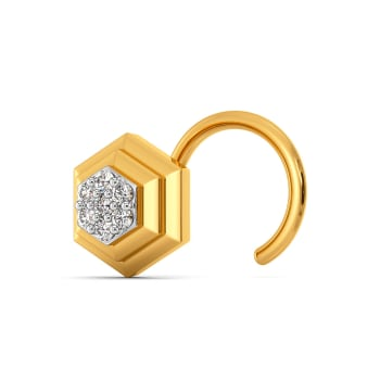 Crisp Suiting Diamond Nose Pins