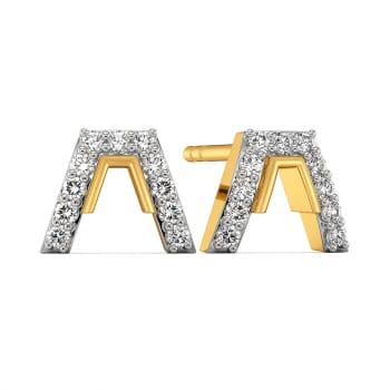 Mod Suiting Diamond Earrings