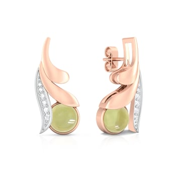 Lime Fleur Diamond Earrings