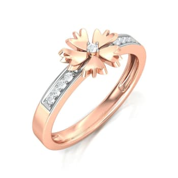 Rosy Daisy Diamond Rings