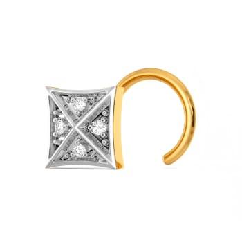 Squared Checks Diamond Nose Pins