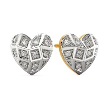 Like A Plaid Diamond Earrings