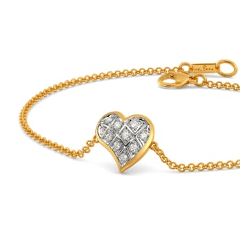 Plaid Date Diamond Bracelets
