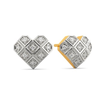Plaid Partner Diamond Earrings