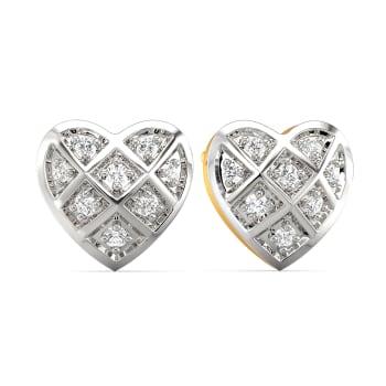Peppy Heart Diamond Earrings