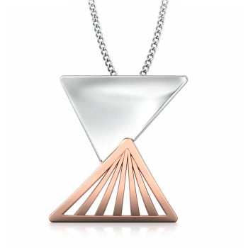 Triangular Drift Gold Pendants