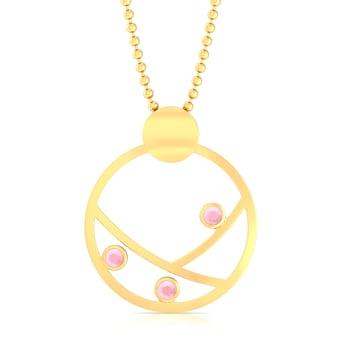 Blush of Gold Gemstone Pendants