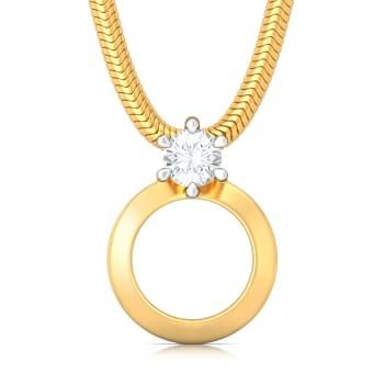 Hoop Whoop Diamond Pendants