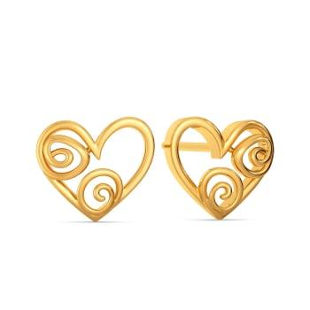 Exotic Edge Gold Earrings