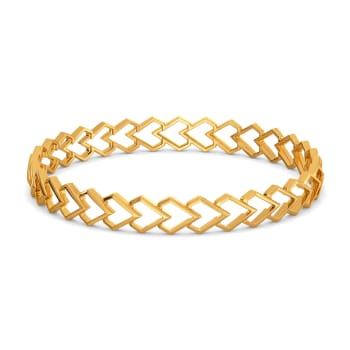 Love Rendition Gold Bangles