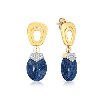Button Pocket Diamond Earrings